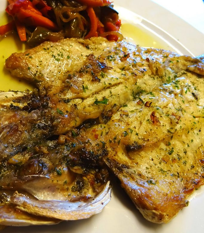 Lubina horno / menú de día